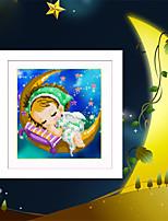 DIY 5d Diamant Stickerei Mond Engel Jungen und Mädchen Zauberwürfel runden Diamant-Malerei Kreuzstich Kits Diamant Mosaik