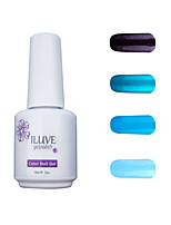 ILuve Gel Nail Polish Set - Pack Of 4 - Long Lasting 3 Weeks Soak Off UV Led Gel Varnish – For Nail Art #4040