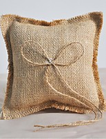 Ring Pillow Linen Beach Theme / Garden Theme / Asian Theme / Classic ThemeWithBow