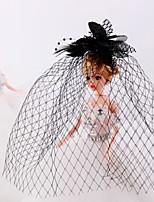 Veren / Bergkristal / Tule / Net Vrouwen / Bloemenmeisje Helm Bruiloft / Speciale gelegenheden / Casual Net SluierBruiloft / Speciale