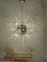 Globe Crystal / LED / Bulb Included Chrome Metal Chandeliers / Pendant LightsLiving Room / Bedroom / Dining Room