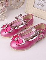 Girls' Shoes Wedding / Party & Evening / Dress Comfort Leather Loafers Blue / Pink / Peach