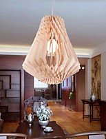 12W Vintage LED Others Wood/Bamboo Chandeliers Living Room / Bedroom