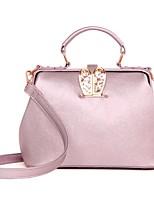 Women PU Flap Shoulder Bag / Tote / Satchel / Evening Bag / Coin Purse-Pink / Black