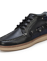 Men's Shoes Office & Career / Casual Leather / Denim Oxfords Blue / Brown