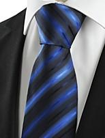 New Striped Blue Black Novelty Unique Men's Tie Necktie Wedding Party Gift #1042