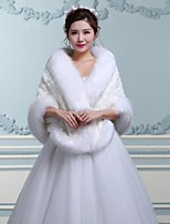 Wedding / Party/Evening Faux Fur Capes Sleeveless Wedding  Wraps / Fur Wraps / Hoods & Ponchos
