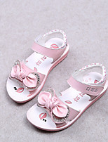 Girls' Shoes Outdoor / Dress / Casual Comfort Leather Sandals / Flats Summer Walking Shoes Pink / White