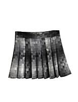 Women's Plaid Gray Skirts,Casual / Day Mini