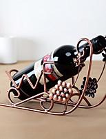 casier à vin en fer pur navire de raisin conception vintage