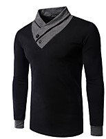 Herren Freizeit T-Shirt - Einfarbig Lang Kunstseide