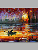 Impression Scenery Oil Painting Acrylic Painting on Canvas Stretchered Sunset Landscape