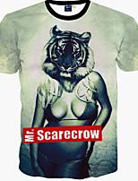 Men's Fashion Tee 3D Sexy Girl Print T-Shirts