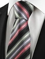 KissTies Men's Gradient Color Striped Microfiber Tie Necktie For Wedding Party Holiday With Gift Box(5 Colors Available)