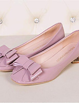 Women's Shoes Leatherette Flat Heel Comfort Flats Outdoor / Casual Black / Pink / Red / Gray