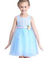 Vestido Chica de-Verano-Poliéster-Azul / Rosa