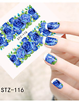 1pcs  Water Transfer Nail Art Stickers  Colorful Flower Nail Art Design STZ116-120