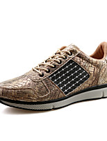 Men's Shoes Outdoor / Office & Career / Casual Leather Fashion Sneakers Brown / Gray / Khaki