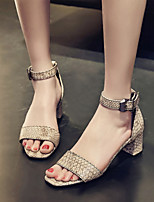 Women's Shoes  Chunky Heel Open Toe Sandals Party & Evening / Dress / Casual Black / Yellow / Beige