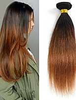 1PCS 12-24 inch Brazilian Straight Hair Ombre #1B30 Color Virgin Hair
