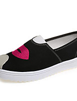 Women's Shoes Low Heel Round Toe Loafers Casual Black / Blue / Pink / Fuchsia