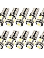 10pcs 12V 2.5W T10 5050 5SMD LED Can-bus Error Free LED Reading Lamp, LED Door Lamp with Super Bright