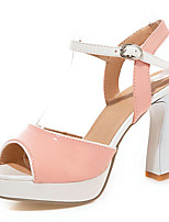 Women's Shoes Spool Heels/Platform/Sling back/Open Toe Sandals Party & Evening/Dress Pink/White