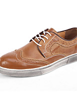 Men's Shoes Office & Career / Casual Leather Fashion Sneakers / Athletic Shoes / Espadrilles Blue / Brown