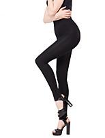 Women Solid Color Legging,Velvet Medium