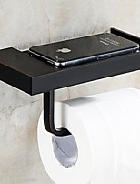 Bathroom Wall Mounted Soild Brass Oil-rubbed Bronze Toilet Paper Holder Mobile Phone Holder Tissue Box Shelf