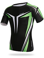 XINTOWN Mens Sports Cycling Bicycle Breathable Short Sleeve O-Neck Tight T-Shirt