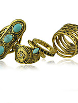 Women's Alloy Ring Turquoise Alloy  5 Pieces