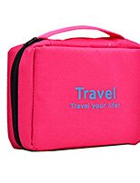 Toiletry BagForTravel Storage Fabric Black / Blue / Green / Red / Orange 22*20*5cm