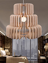 12W Vintage LED Three Layer Cake Wood Chandeliers Living Room / Bedroom / Dining Room / Study Room/Office / Hallway