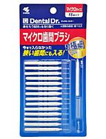 Interdental Brush the Teeth Brushing Stainless Steel Brush Push-pull  Toothbrush to Clean(Pack of 15)