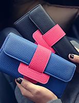 VENETA Women PU Tri-fold Clutch / Wallet-Blue / Red / Gray / Black