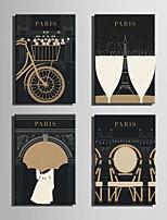 E-HOME® Stretched Canvas Art Paris Element Series Decoration Painting MINI SIZE One Pcs