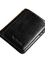 Men Cowhide Mini Wallet / Card & ID Holder-Yellow / Orange / Brown / Black / Khaki