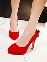 Women's Wedding Shoes Heels / Peep Toe / Comfort / Office & Career / Party & Evening / Dress Black / Red