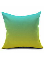 Pure Color Gradual Cotton/Linen Pillow Cover , Nature Modern/Contemporary  Pillow Linen Cushion