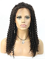 Peruvian Virgin Hair Lace Front Sprail Curly Wig Unprocessed Glueless Front Lace Human Hair Wig