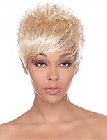 High Quality Short Straight Synthetic Wigs Extensions Blonde Women Lady Elegant Style