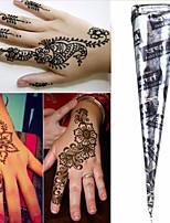 Black* Herbal Henna Cones Temporary Tattoo Kit Body Art Mehandi Ink Hina