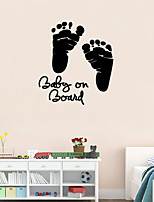 3D Wall Stickers Wall Decals Style Little Feet Waterproof Removable PVC Wall Stickers