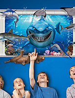 3D Wall Stickers Wall Decals Style Ocean Underwater World PVC Wall Stickers