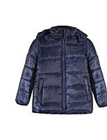 Girl's Blue Jacket & Coat,Stripes Polyester Spring / Fall