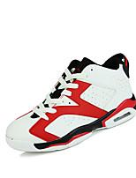 Chaussures Noir / Blanc Cuir Basket Femme