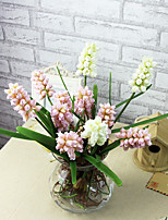 A Branch Silk Hyacinth Artificial Flowers Multicolor Optional 1pc/set