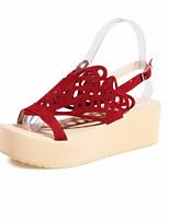 Women's Shoes Leatherette Flat Heel Peep Toe / Platform / Open Toe Sandals Outdoor / Office & Career / Dres