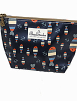 Women PU Casual Cosmetic Bag-Black 22cm*13cm*7.5cm